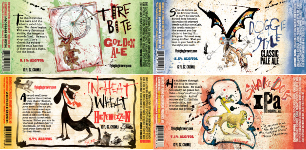 Flying Dog Labels